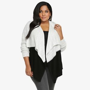 Torrid Open Front Colorblock Cardigan